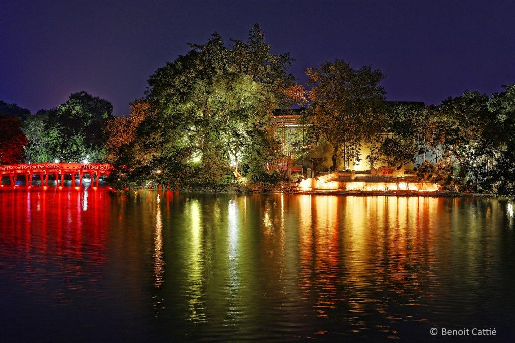 Lake by night - Hanoi, Vietnam